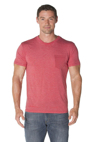 Tri-Blend Crew Neck Pocket Tee