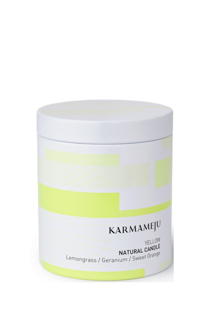 KARMAMEJU Natural Candle 03 YELLOW