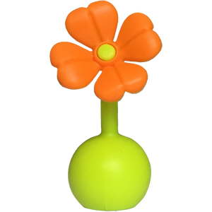 Haakaa Silicone Breast Pump Flower Stopper, Orange