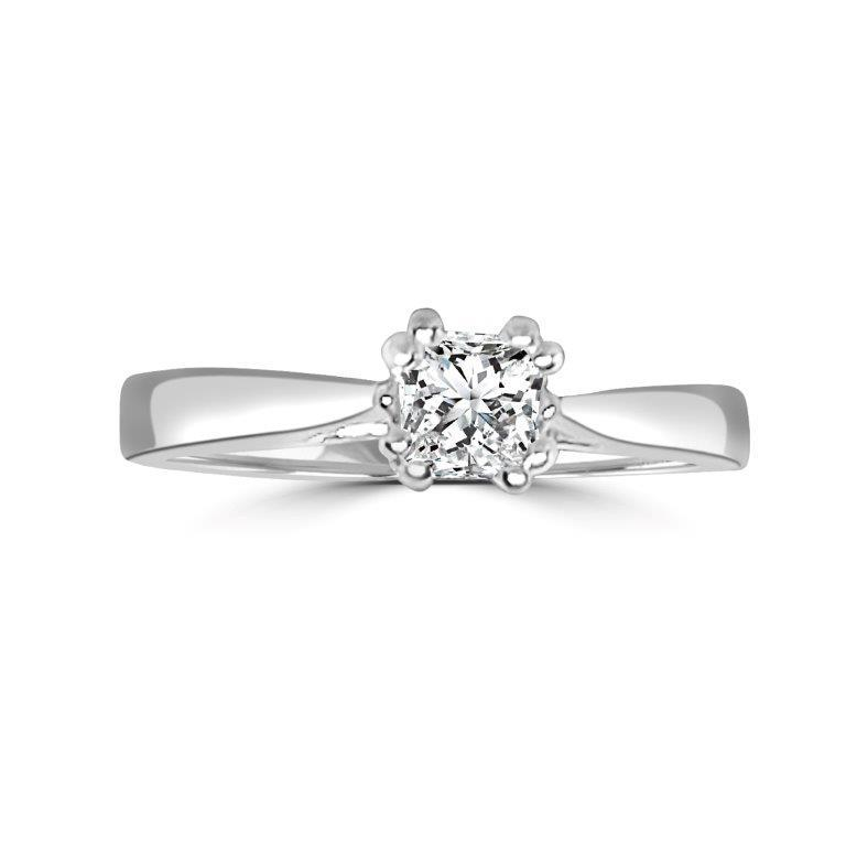 0.5CT Diamond Veneer Cubic Zirconia 14K Gold Ring. 635R014K