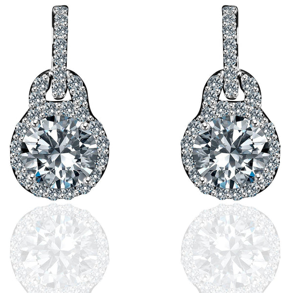 Sterling Silver Solitaire Earring Set - Diamond Veneer Jewelry