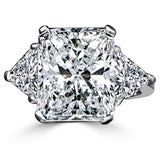 10CT intensely radiant Diamond Veneer Cubic zirconia14K Gold Ring. 635R71337K