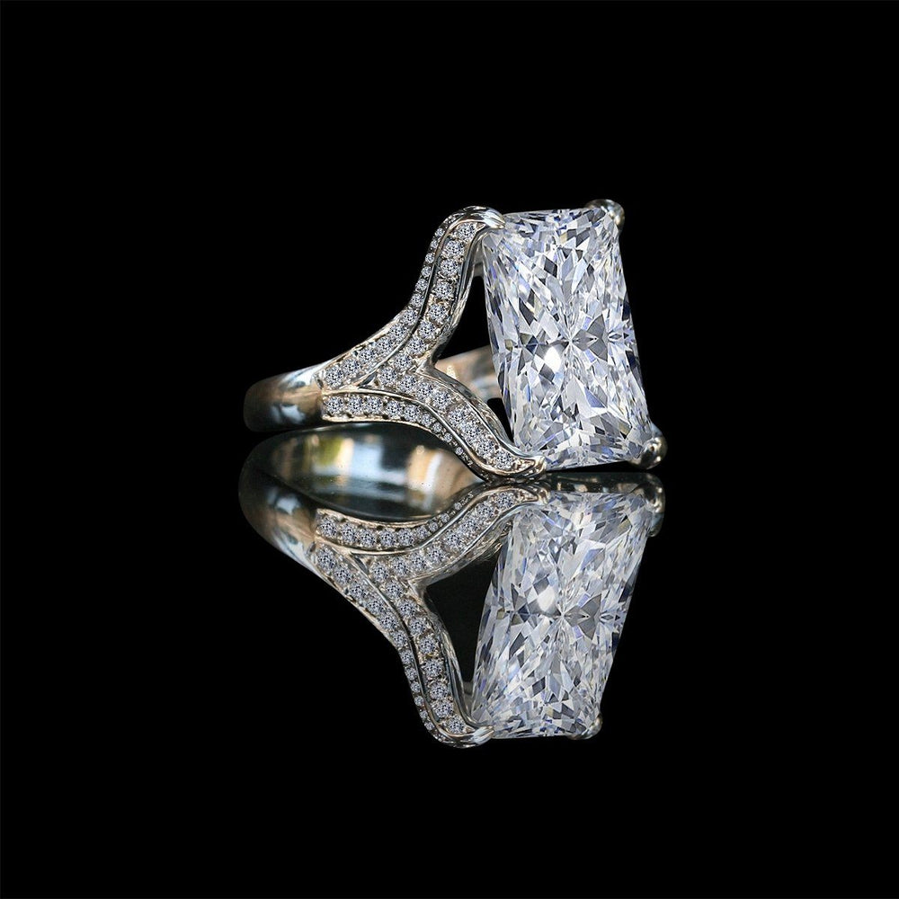 15CT intensely radiant Diamond Veneer Cubic zirconia Ring. - Diamond Veneer Jewelry