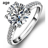 1CT Round Diamond Veneer Cubic zirconia Solitaire Engagement/Wedding Sterling silver Ring Set. 635R031
