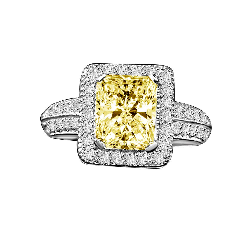 2CT Radiant Diamond Veneer Cubic Zirconia Sterling silver Vintage Ring. - Diamond Veneer Jewelry