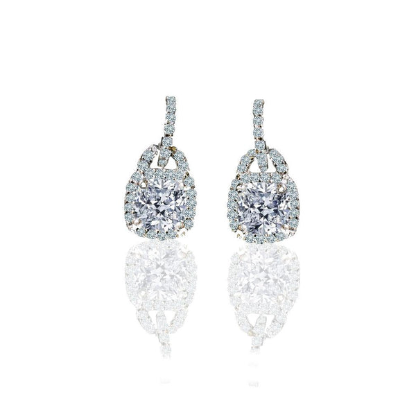 Sterling Silver Solitaire Drop Earring Set - Diamond Veneer Jewelry