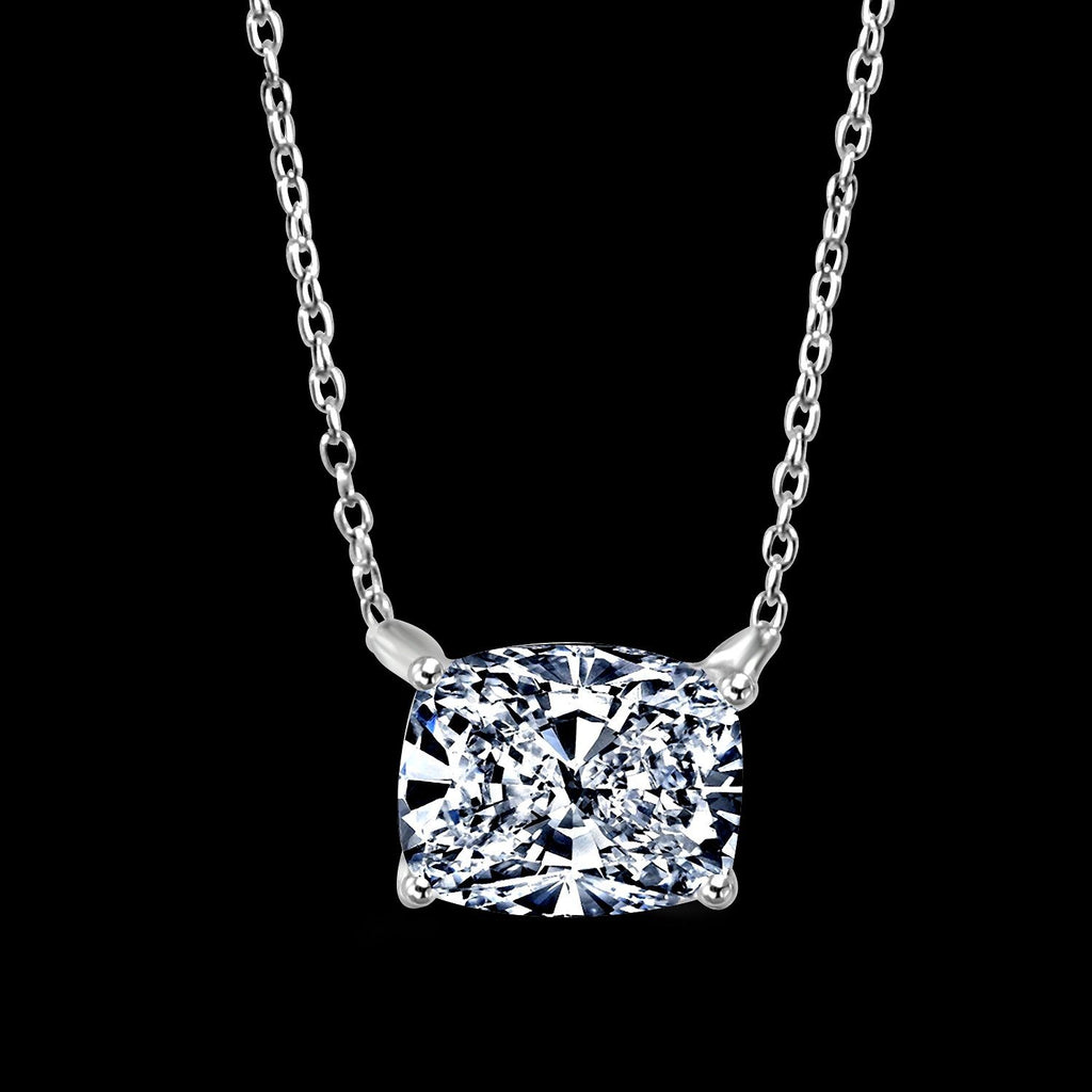 3.5 CT.(11x9) Intensely Radiant Rectangular Cushion Diamond Veneer Cubic Zirconia Super Pure Luxury Pendant. 635P11x9 - Diamond Veneer Jewelry