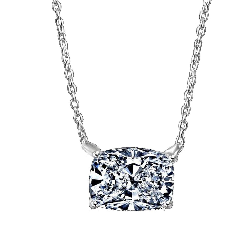 3.5CT Cushion Diamond Veneer Cubic Zirconia 14K Gold Pendant. - Diamond Veneer Jewelry