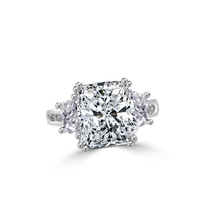 3.5CT Radiant Diamond Veneer Cubic zirconia Sterling silver new Ring - Diamond Veneer Jewelry