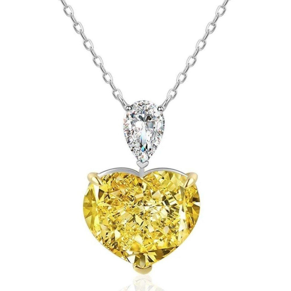 5CT Heart Diamond Veneer Cubic Zirconia Sterling Silver Solitaire new Pendant. 800P102 | Yaacov Hassidim