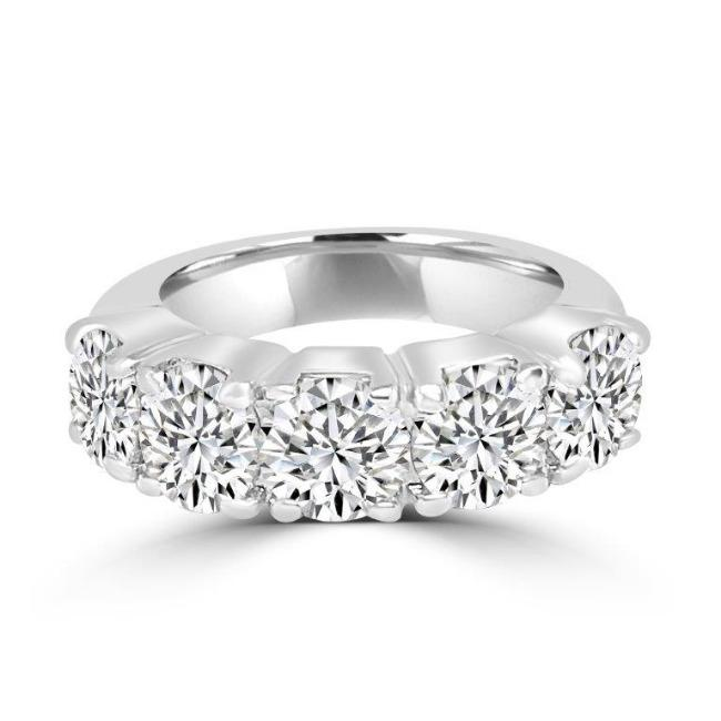 4CT TW Round Zirconite Cubic Zirconia Sterling Silver Eternity Band Ring. 501R20301