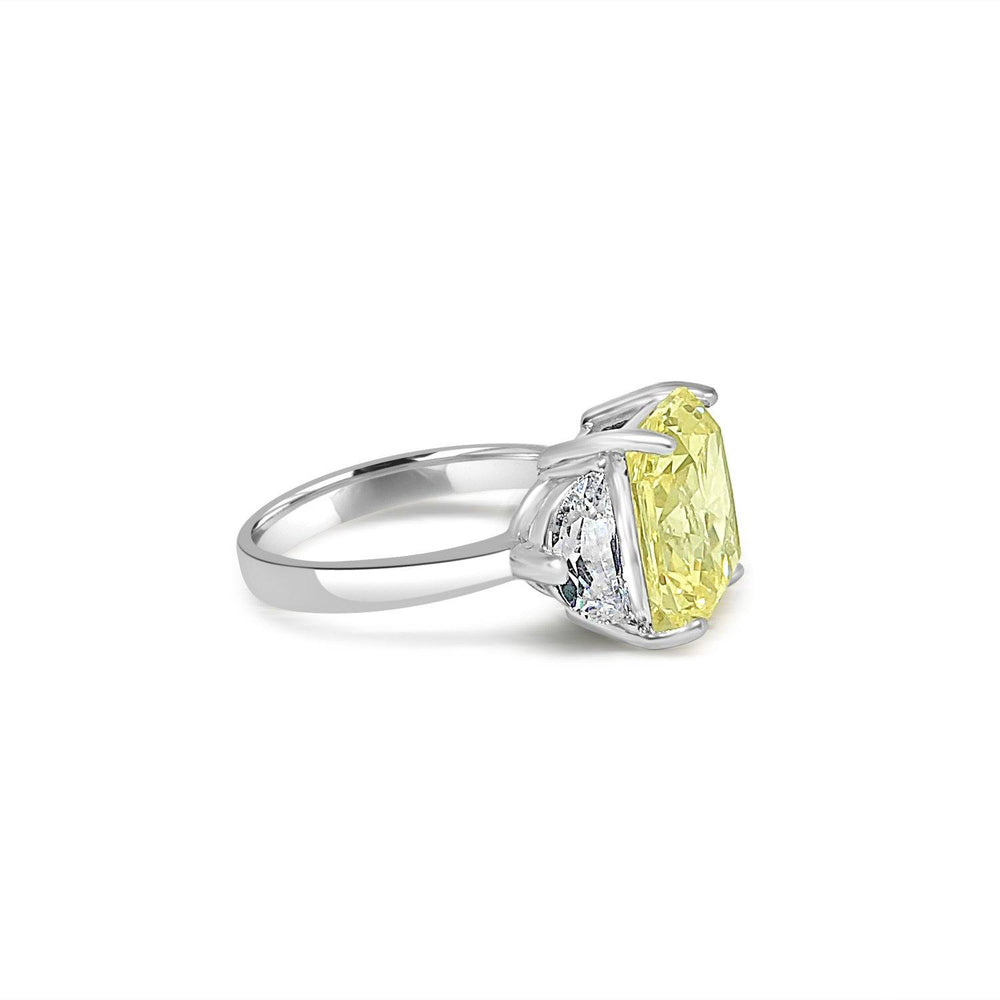 5CT Radiant Diamond Veneer Cubic Zirconia Sterling Silver Ring. New Item! - Diamond Veneer Jewelry