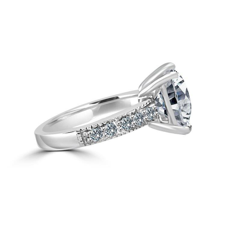 5CT Cushion Square Diamond Veneer Cubic Zirconia Sterling Silver Ring. New Item! - Diamond Veneer Jewelry