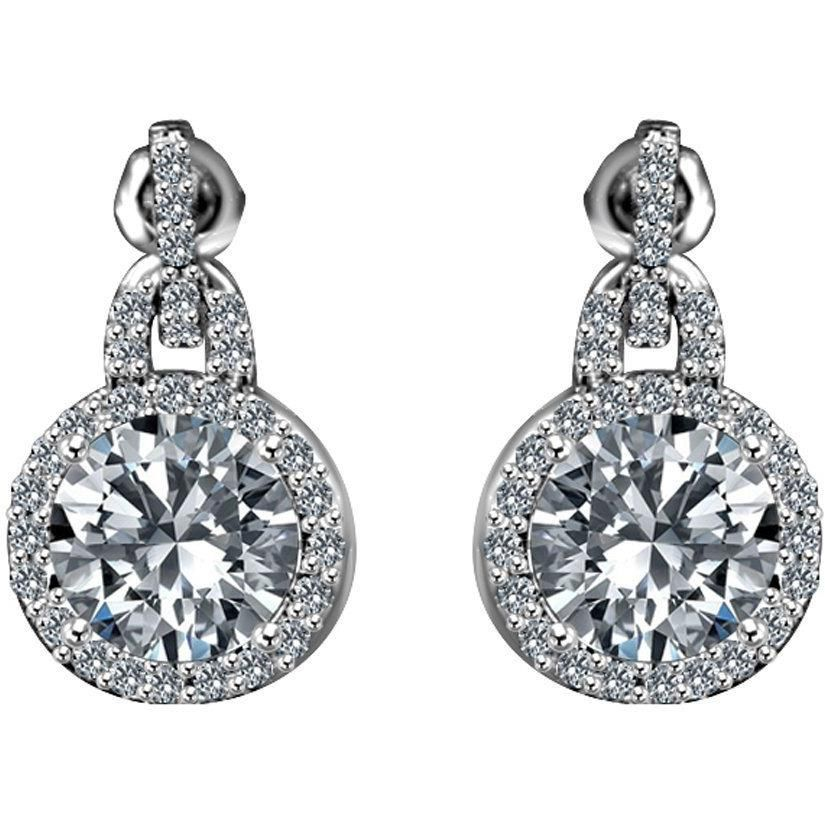 3 ct. tw intensely radiant square diamond veneer cubic zirconia post sterling silver earrings. 635e10738