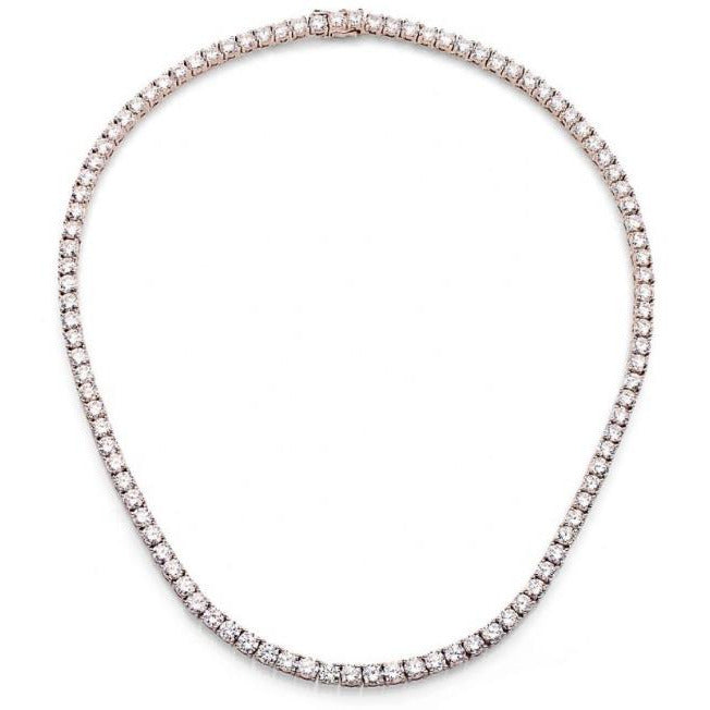 Classic Zirconite Cubic Zirconia Tennis necklace. 602N5005