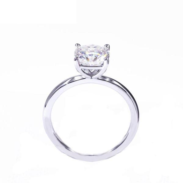 Cushion square Diamond Veneer Cubic zirconia 14K gold Ring. - Diamond Veneer Jewelry