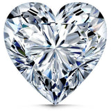 Diamond Veneer Cubic Zirconia Intensely Radiant Heart Shape Loose Stone - Diamond Veneer Jewelry