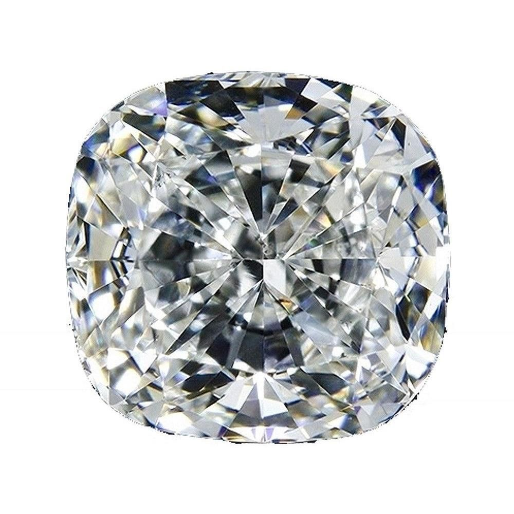 Intensely Radiant Cushion Square Diamond Veneer Cubic Zirconia Loose Stone