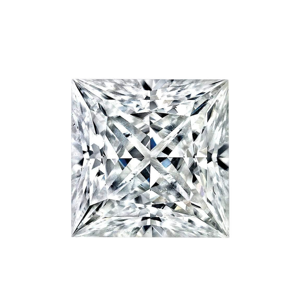 Diamond Veneer Cubic Zirconia Intensely Radiant Princess Cut square shape Loose stone - Diamond Veneer Jewelry
