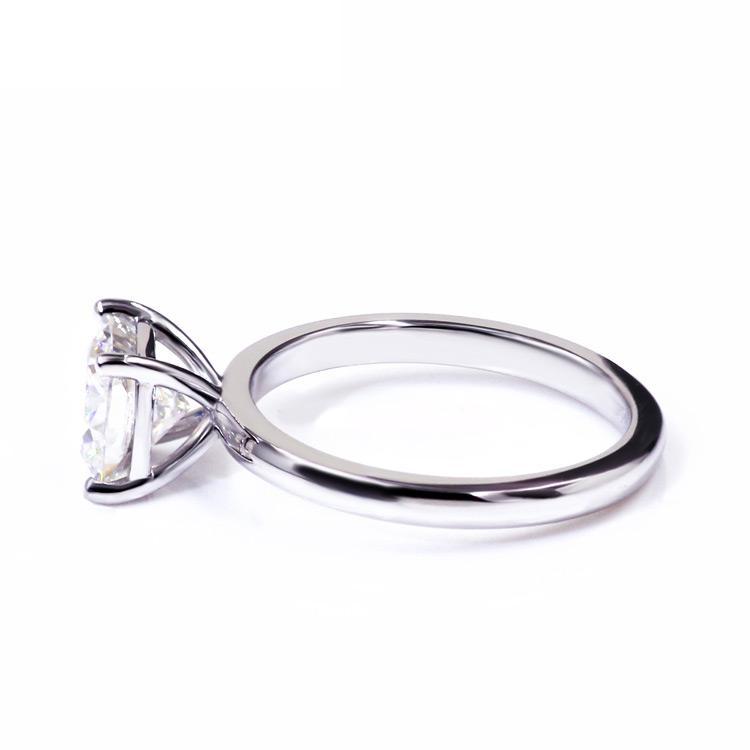 Round Diamond Veneer Cubic Zirconia Sterling silver Solitaire Ring. 635R166 - Diamond Veneer Jewelry