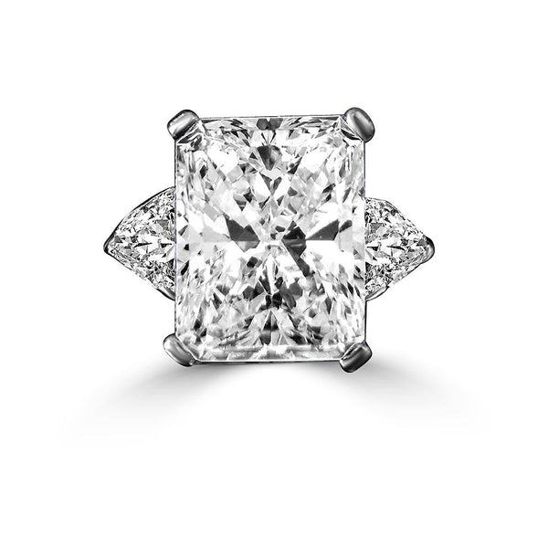 Intensely Radiant Rectangular Diamond Veneer Cubic Zirconia Sterling Silver Ring. 635R72098 - Diamond Veneer Jewelry