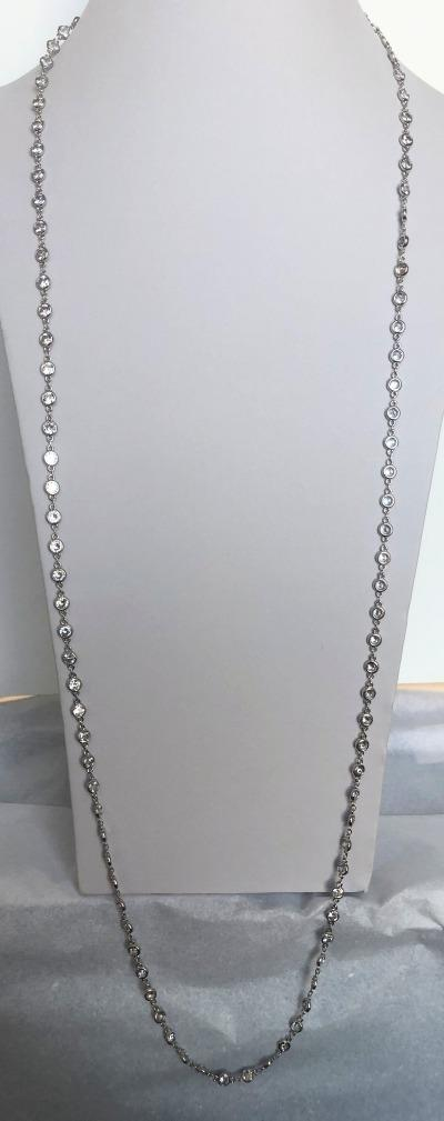 Zirconite By the Inch Cubic Zirconia Stations Necklace. 655ZBY