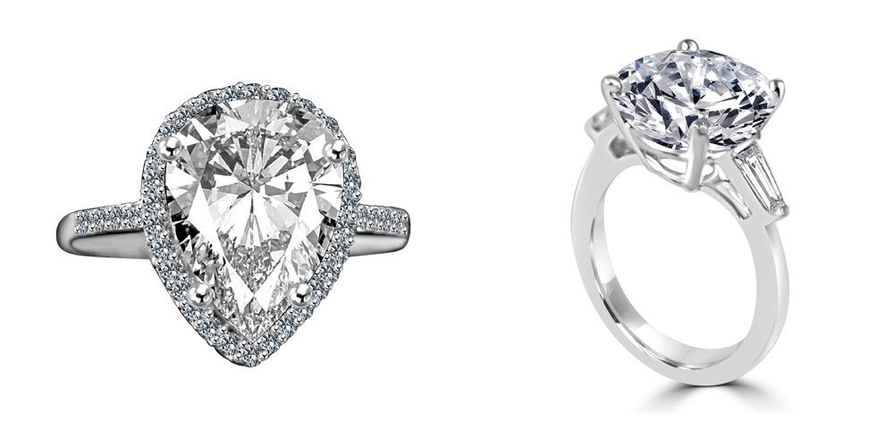 Forever Motion collection , simulated diamonds and diamond coated cubic zirconia collection