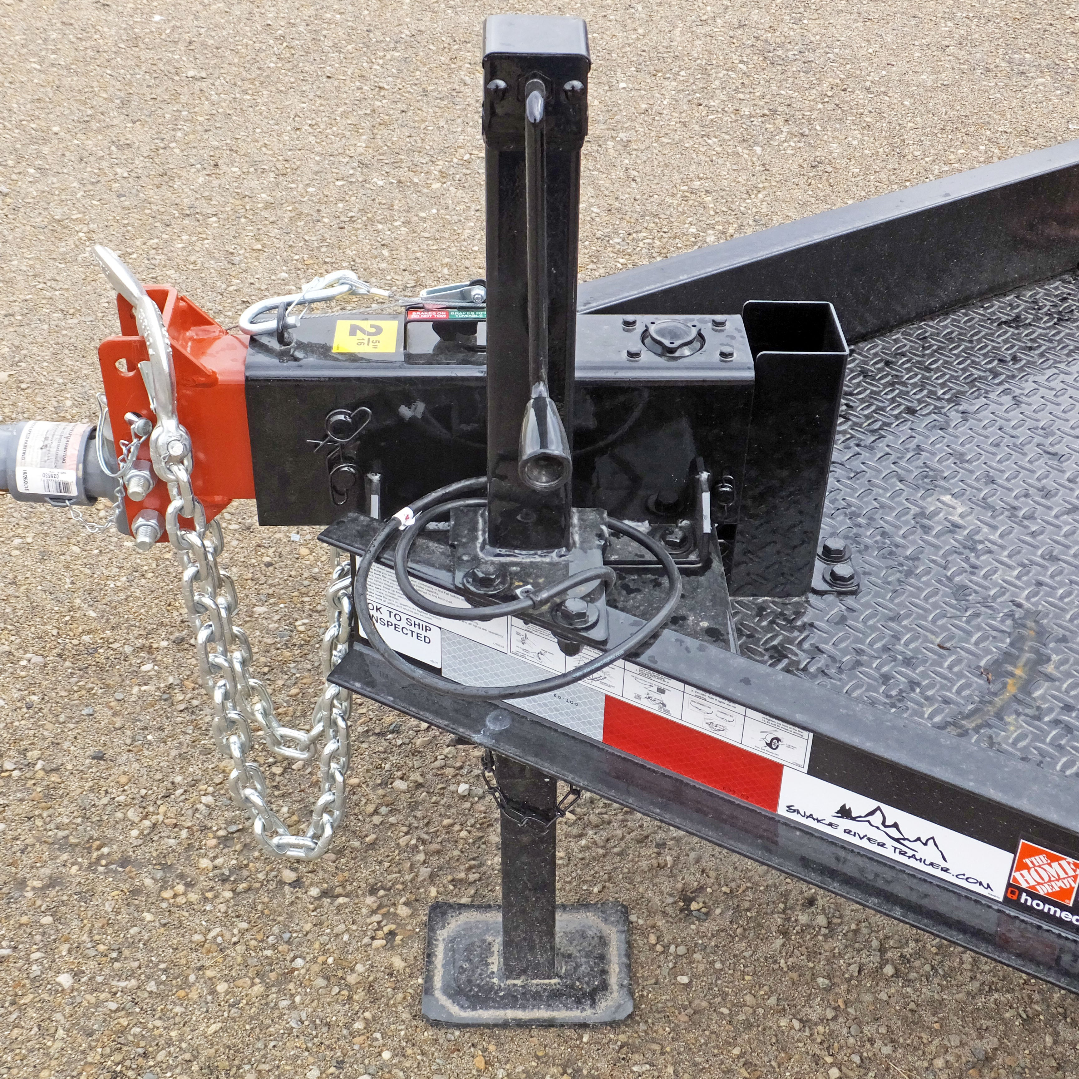 Jack Side Wind Square 8 000lb With Custom Mounting