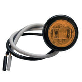 "Light, 3/4"" Round LED Clearance/Marker - AMBER (3 Diodes)"