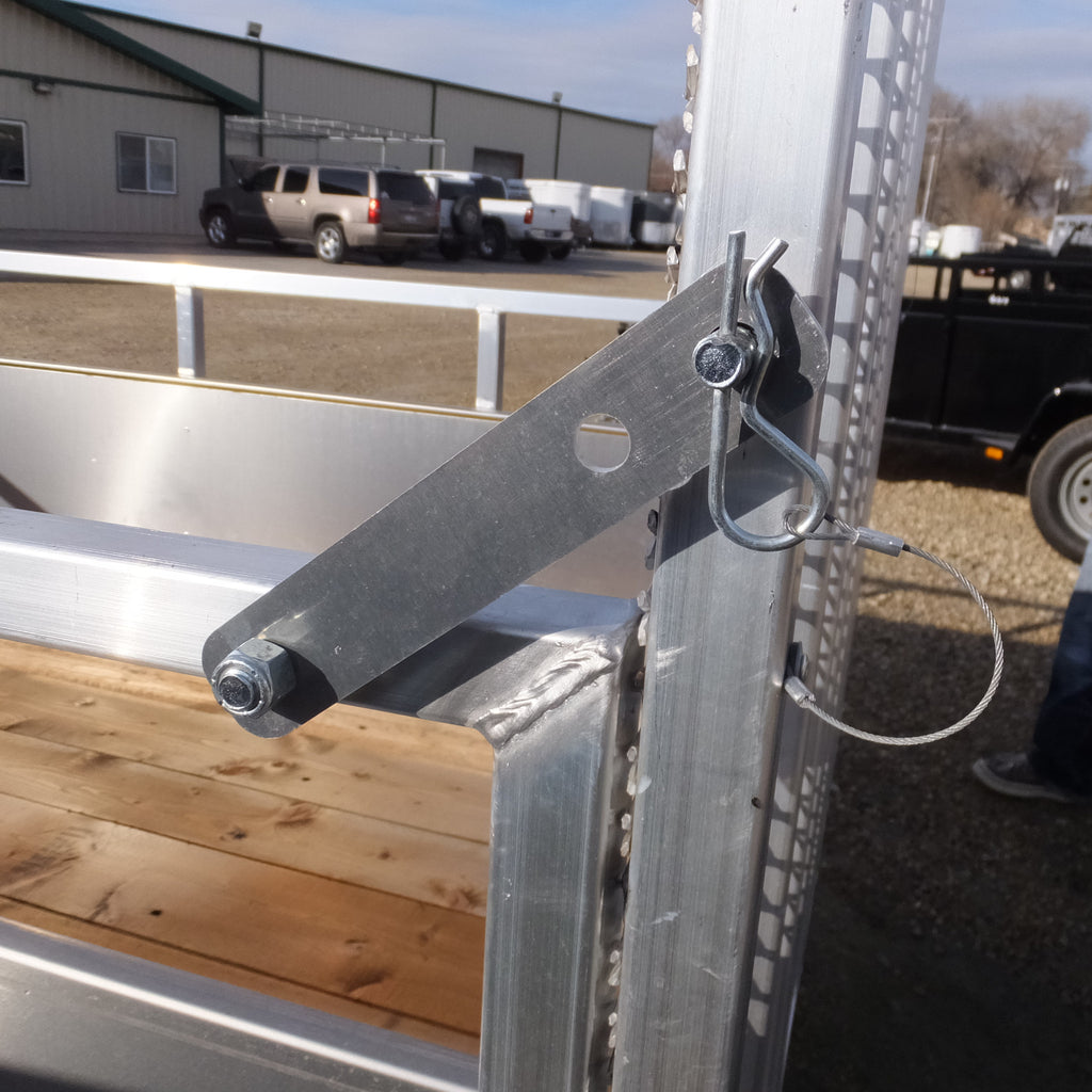 Latch Assembly For Aluminum Utility Trailer Ramp Gate