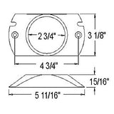 "Mounting Bracket for 2-1/2"" Round Lights"