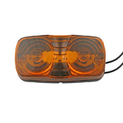 Double Bullseye Clearance Light - AMBER