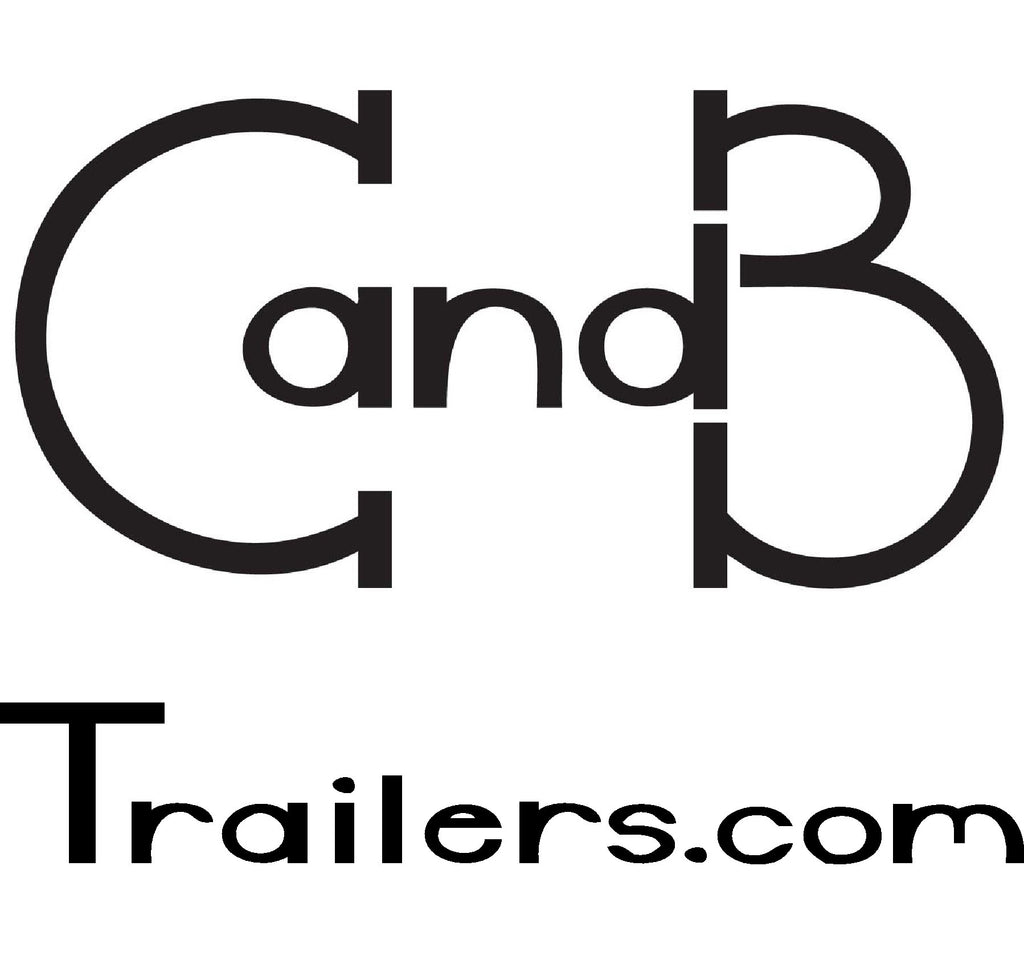 "Decal, C and B Trailers - 8"" x 8"" White"