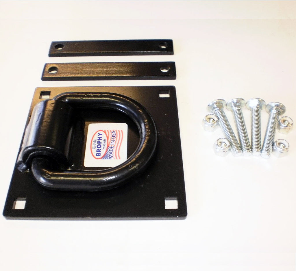 "D-Ring Kit, 5/8"" Thick Ring Welded to Plate"