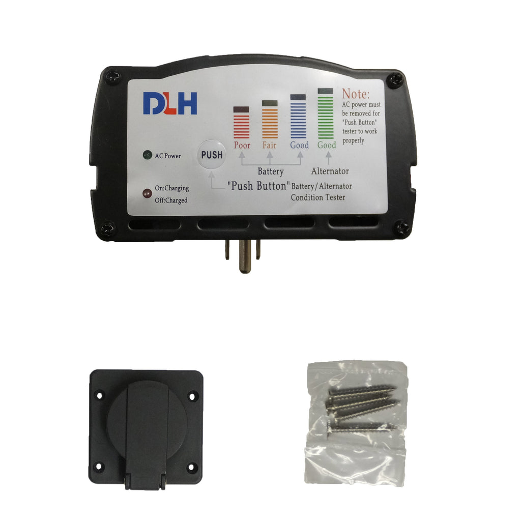 Panel Mount Battery Charger with Battery Tester - 8 Amps