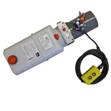 KTI DC-4921 Hydraulic Hoist Pump - Single Acting (Power Up/Gravity Down)