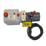 KTI - DC-4919 Hydraulic Hoist Pump - Single Acting (Power Up/Gravity Down)