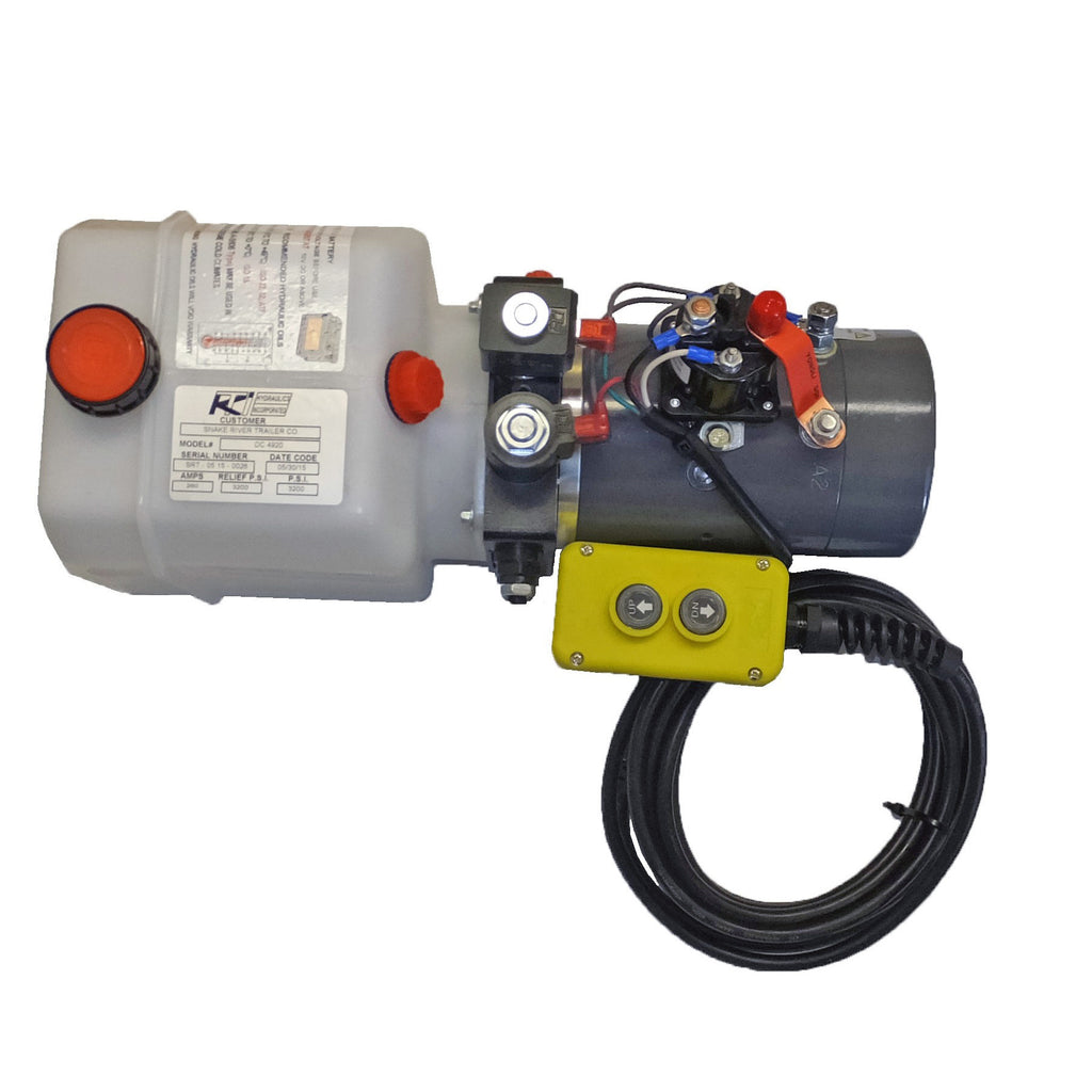 KTI - DC-4920 Hydraulic Hoist Pump - Double Acting (Power Up/Power Down)