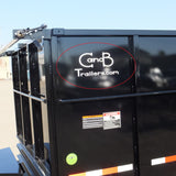 "Decal, C and B Trailers - 8"" x 16"" White"