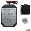 Panel Mount Battery Charger with Battery Tester - 1.5 Amps