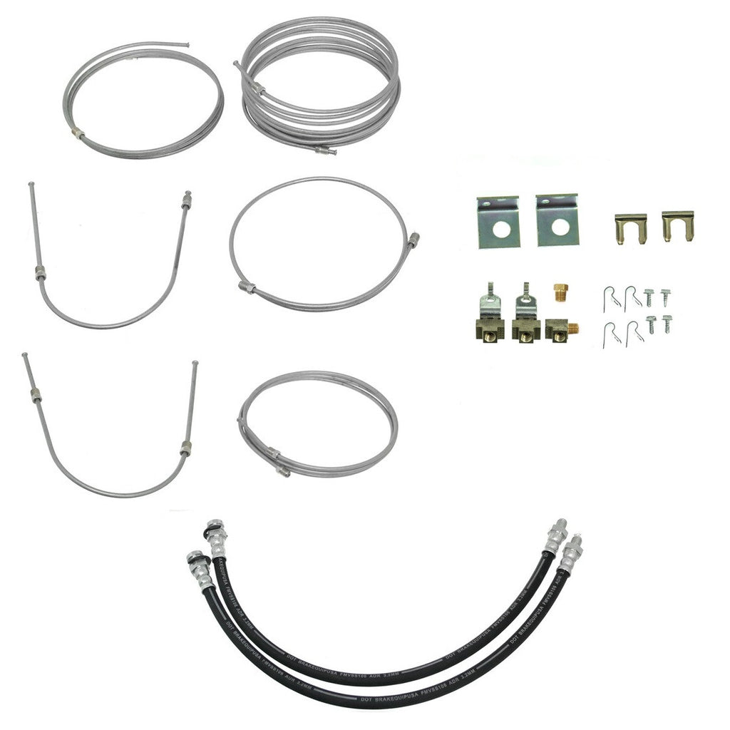 Hydraulic Brake Line Kit for Spring Tandem Axle Trailers - Drum Brakes