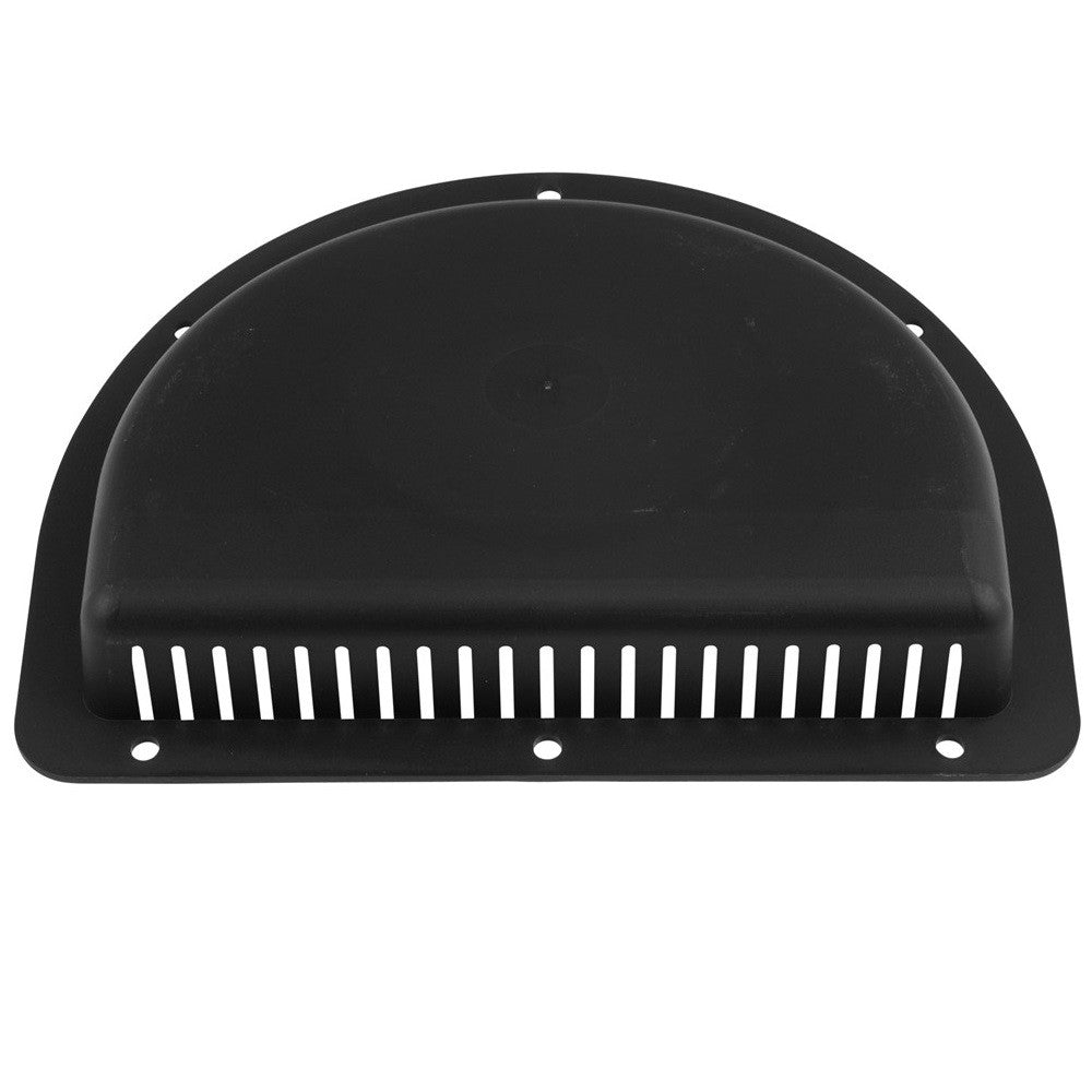 "Vent, Exterior Black Half Moon for 3"" Diameter Hole - Black"