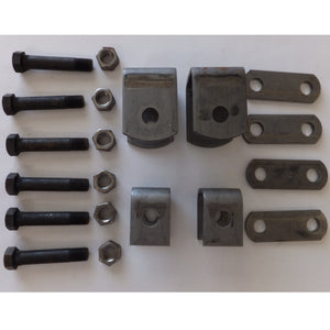 2K-3.5K Single Axle Hanger Kit - Double Eye Springs