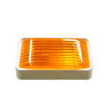 Rectangular Surface Mount Porch Light with Amber Lens