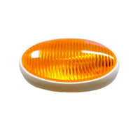 Euro Style Surface Mount Porch Light with Amber Lens
