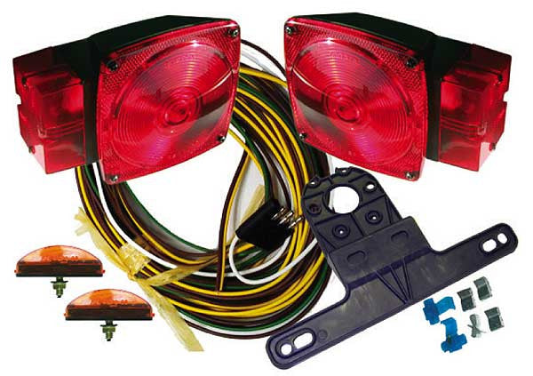 "Submersible Trailer Light Kit For Trailers Over 80"" (Square Style)"