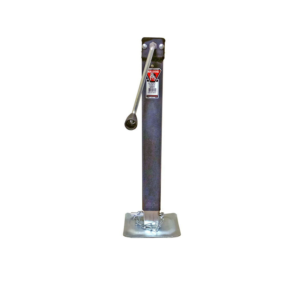 Jack, Square 8,000 lb Side Wind with Adjustable Drop Leg - Direct Weld