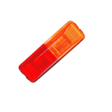 "Light Only, 4"" x 1"" Rectangle Fender Mount Clearance - AMBER/RED"