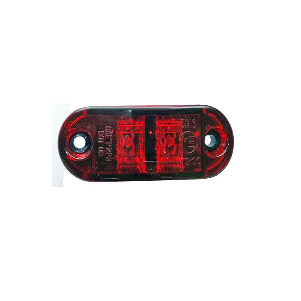 "Clearance/Marker Light, 2-1/2"" Oval LED - RED (2 Diodes)"