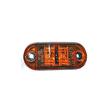 "Clearance/Marker Light , 2-1/2"" Oval LED - Clear AMBER (2 Diodes)"